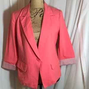 NWT Windsor Pink 1 Button Blazer Jacket Size Large